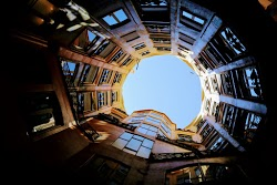Looking up out of the Casa Milà