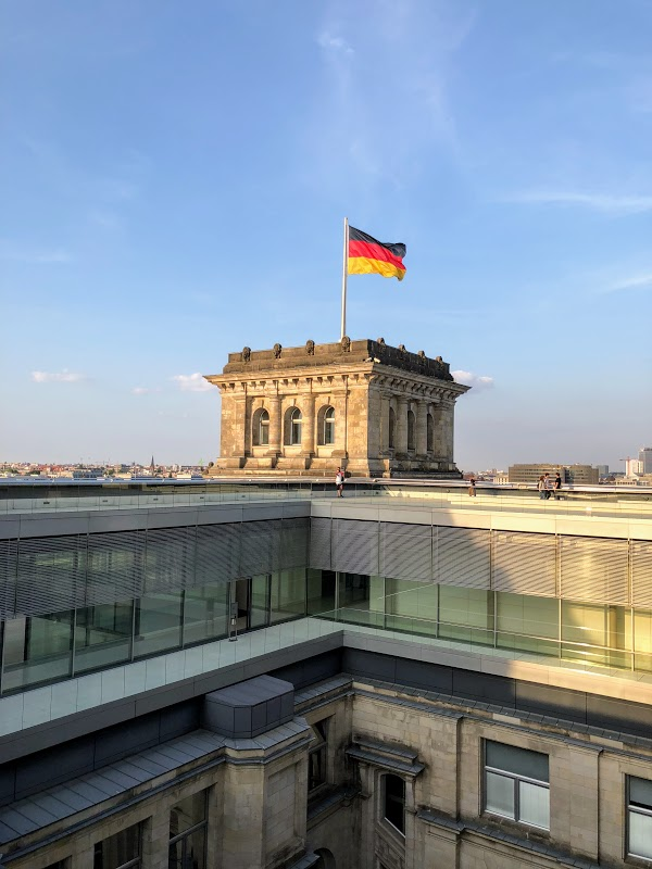 German Flag atop the Reichstag