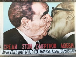Brezhnev kissing Honecker