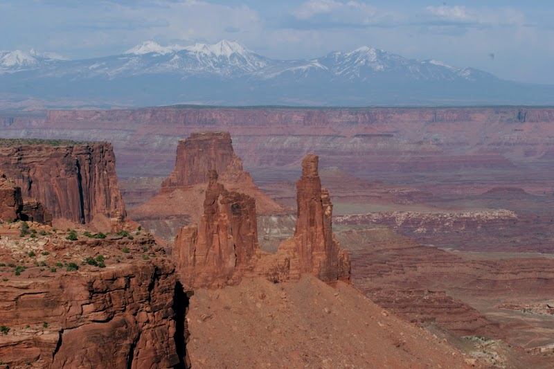 La Sal Range through Mesa Arch