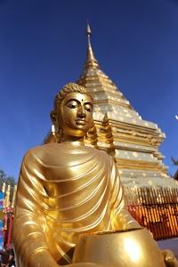 Golden Buddha and Stupa
