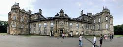 Panoramic view of the Palace of Holyroodhouse