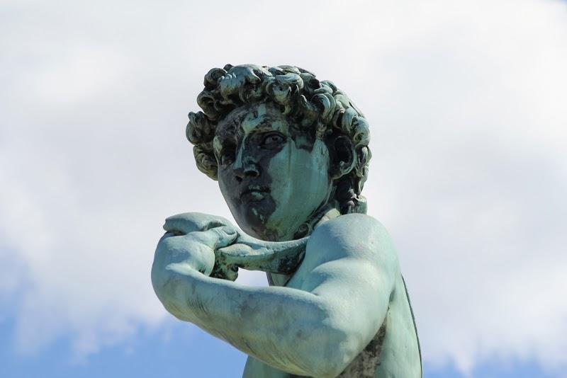 Close-up of David