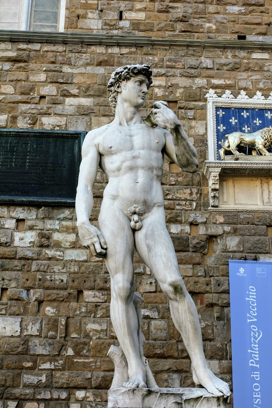 David replica in the Town Square