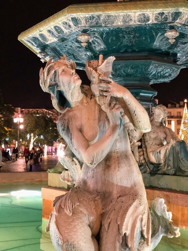 Fountain, Rossio Square