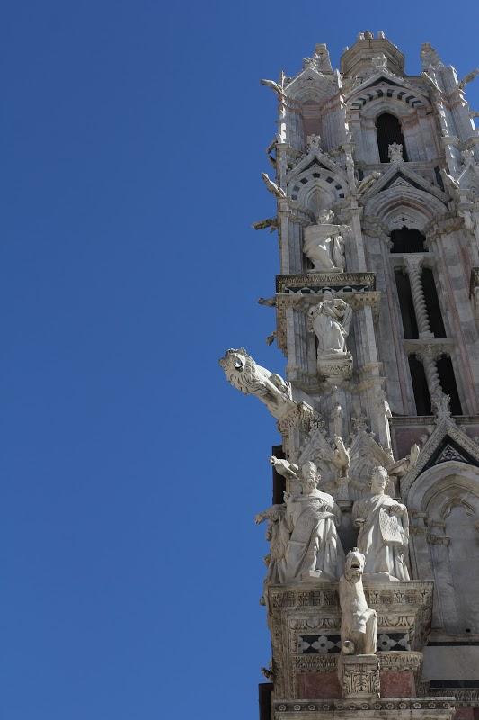 Gargoyles on the Siena Cathedral