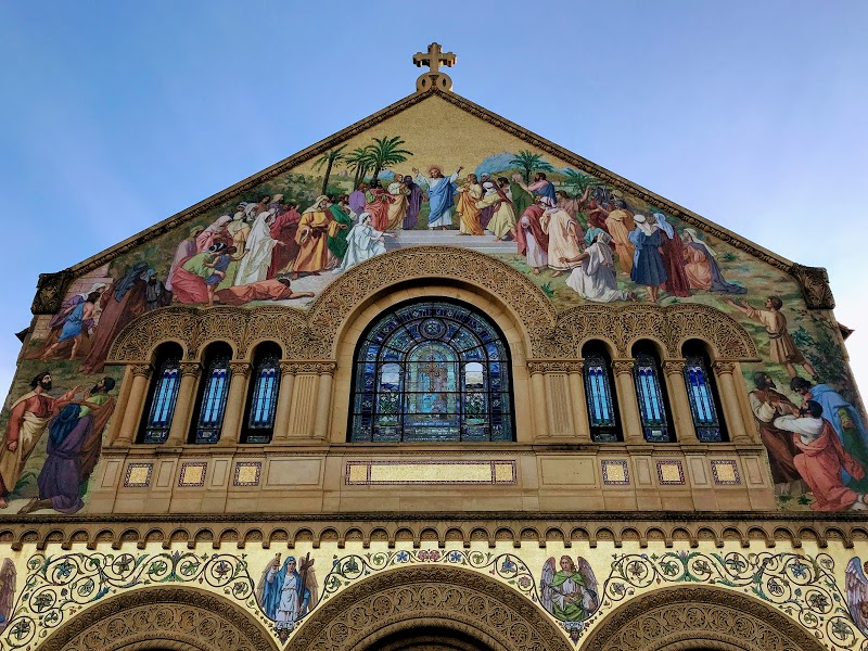 North façade of the Stanford Memorial Church